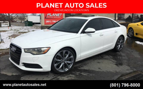 2014 Audi A6 for sale at PLANET AUTO SALES in Lindon UT