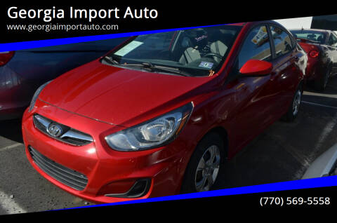 2013 Hyundai Accent for sale at Georgia Import Auto in Alpharetta GA