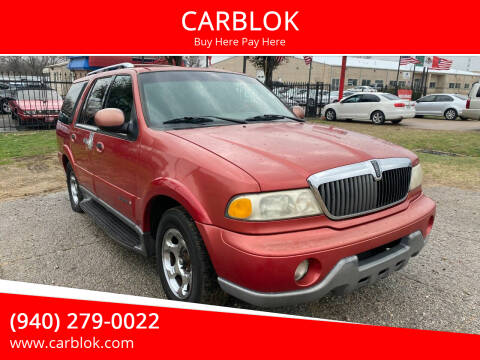 2001 Lincoln Navigator for sale at CARBLOK in Lewisville TX