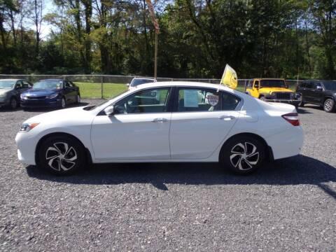 2016 Honda Accord for sale at RJ McGlynn Auto Exchange in West Nanticoke PA