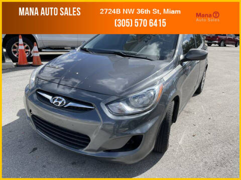 2012 Hyundai Accent for sale at MANA AUTO SALES in Miami FL