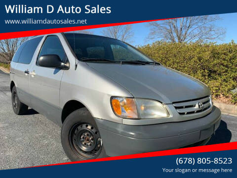 2002 Toyota Sienna for sale at William D Auto Sales in Norcross GA
