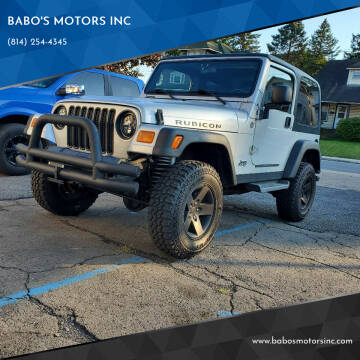 2005 Jeep Wrangler for sale at BABO'S MOTORS INC in Johnstown PA