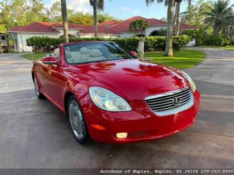 2002 Lexus SC 430 for sale at Autohaus of Naples Inc. in Naples FL