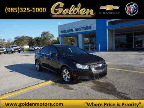 2014 Chevrolet Cruze for sale at GOLDEN MOTORS in Cut Off LA