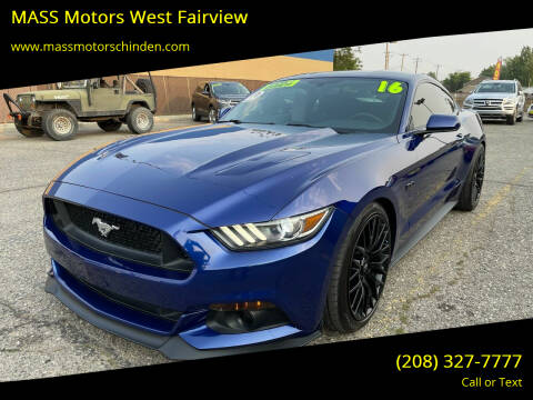 2016 Ford Mustang for sale at M.A.S.S. Motors - West Fairview in Boise ID