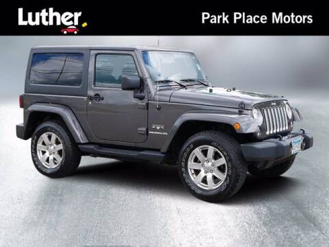 2017 Jeep Wrangler for sale at Park Place Motor Cars in Rochester MN
