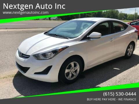 2014 Hyundai Elantra for sale at Nextgen Auto Inc in Smithville TN