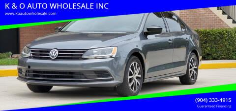 2016 Volkswagen Jetta for sale at K & O AUTO WHOLESALE INC in Jacksonville FL