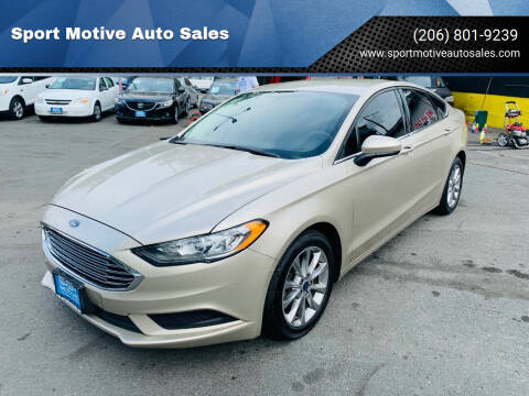 2017 Ford Fusion for sale at Sport Motive Auto Sales in Seattle WA