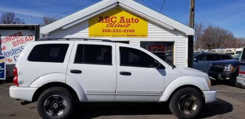 2005 Dodge Durango for sale at ABC AUTO CLINIC - Chubbuck in Chubbuck ID