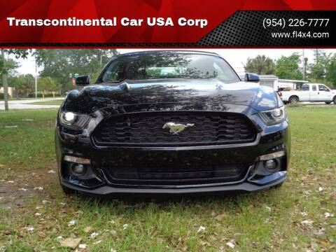 2015 Ford Mustang for sale at Transcontinental Car USA Corp in Fort Lauderdale FL