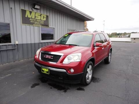 2012 GMC Acadia for sale at Moss Service Center-MSC Auto Outlet in West Union IA