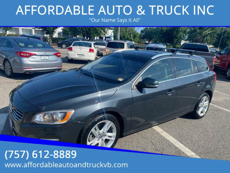2015 Volvo V60 for sale at AFFORDABLE AUTO & TRUCK INC in Virginia Beach VA