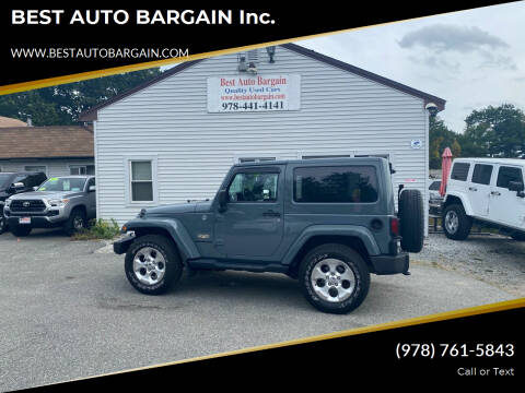 2014 Jeep Wrangler for sale at BEST AUTO BARGAIN inc. in Lowell MA