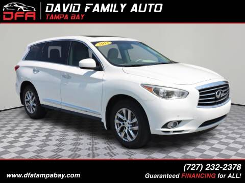 2013 Infiniti JX35 for sale at David Family Auto in New Port Richey FL