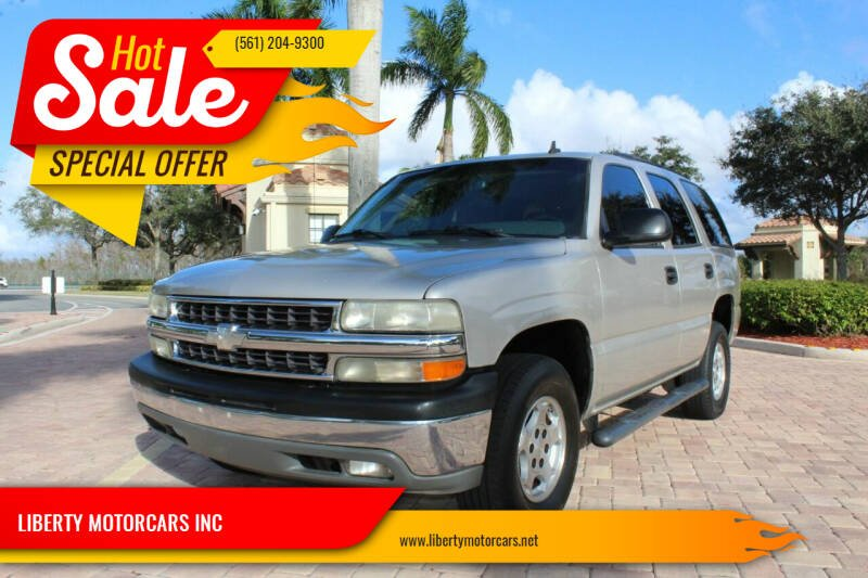 2006 Chevrolet Tahoe for sale at LIBERTY MOTORCARS INC in Royal Palm Beach FL
