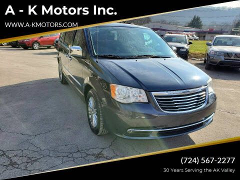 2014 Chrysler Town and Country for sale at A - K Motors Inc. in Vandergrift PA