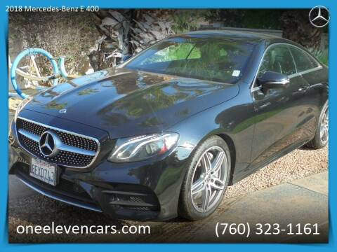 2018 Mercedes-Benz E-Class for sale at One Eleven Vintage Cars in Palm Springs CA