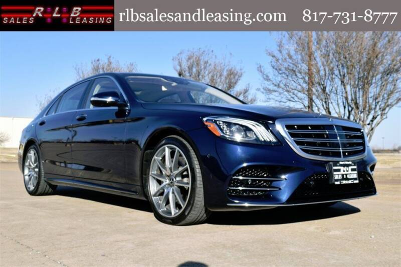 2019 Mercedes-Benz S-Class for sale at RLB Sales and Leasing in Fort Worth TX