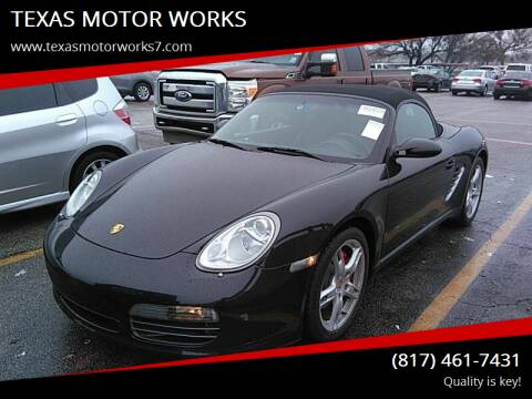 2005 Porsche Boxster for sale at TEXAS MOTOR WORKS in Arlington TX