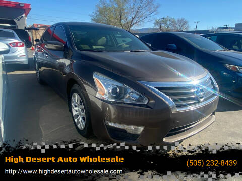 2015 Nissan Altima for sale at High Desert Auto Wholesale in Albuquerque NM