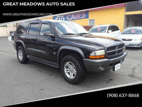 2002 Dodge Durango for sale at GREAT MEADOWS AUTO SALES in Great Meadows NJ