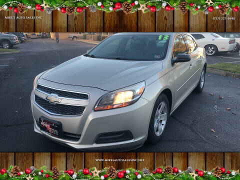 2013 Chevrolet Malibu for sale at Mike's Auto Sales INC in Chesapeake VA