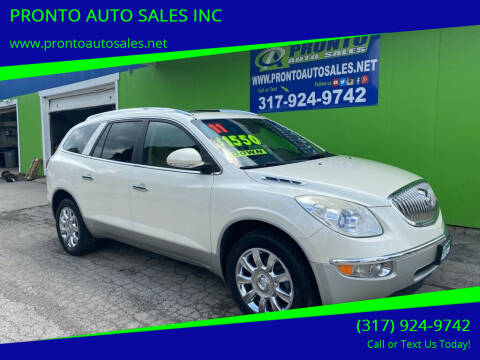 2011 Buick Enclave for sale at PRONTO AUTO SALES INC in Indianapolis IN