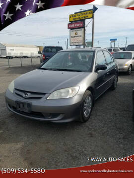 2004 Honda Civic for sale at 2 Way Auto Sales in Spokane Valley WA