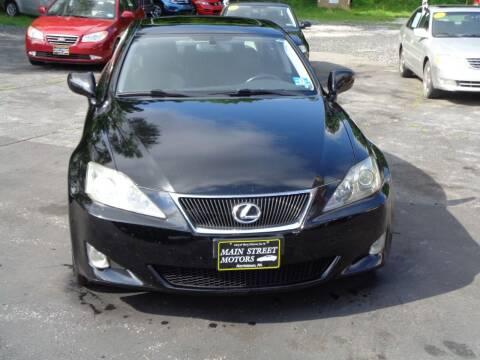 2007 Lexus IS 250 for sale at MAIN STREET MOTORS in Norristown PA
