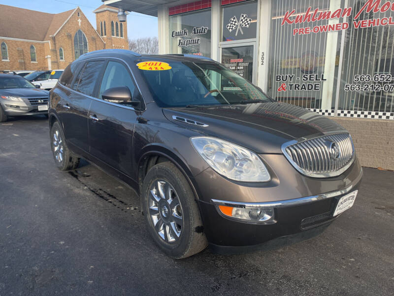 2011 Buick Enclave for sale at KUHLMAN MOTORS in Maquoketa IA
