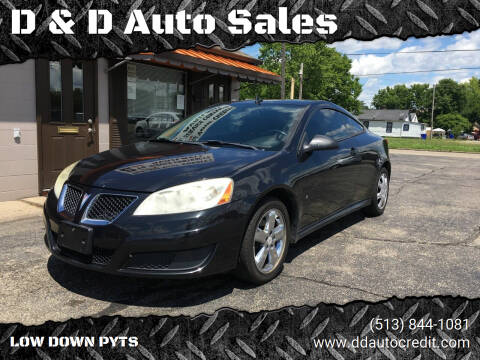 2009 Pontiac G6 for sale at D & D Auto Sales in Hamilton OH