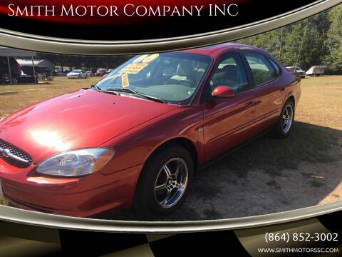 2000 Ford Taurus for sale at Smith Motor Company INC in Mc Cormick SC