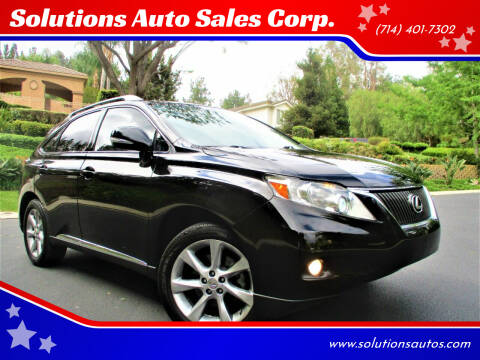 2012 Lexus RX 350 for sale at Solutions Auto Sales Corp. in Orange CA