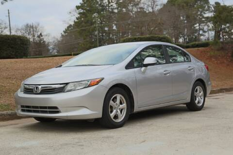 2012 Honda Civic for sale at Alpha Auto Solutions in Acworth GA
