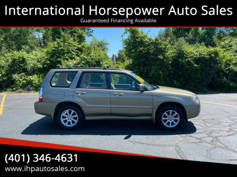 2008 Subaru Forester for sale at International Horsepower Auto Sales in Warwick RI