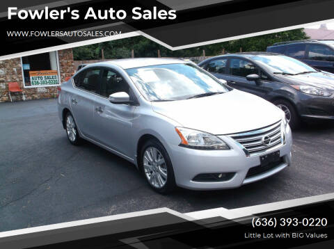 2013 Nissan Sentra for sale at Fowler's Auto Sales in Pacific MO