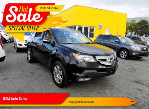 2008 Acura MDX for sale at GSM Auto Sales in Linden NJ