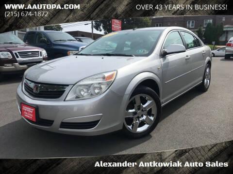 2008 Saturn Aura for sale at Alexander Antkowiak Auto Sales in Hatboro PA