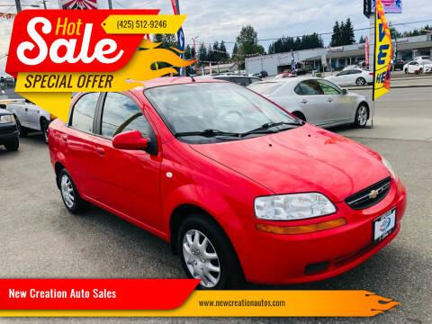 2006 Chevrolet Aveo for sale at New Creation Auto Sales in Everett WA
