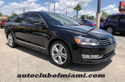2015 Volkswagen Passat for sale at AUTO CLUB OF MIAMI in Miami FL