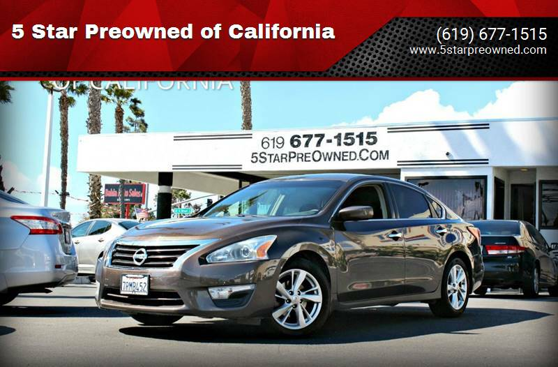 2013 Nissan Altima for sale at 5 Star Preowned of California in Chula Vista CA