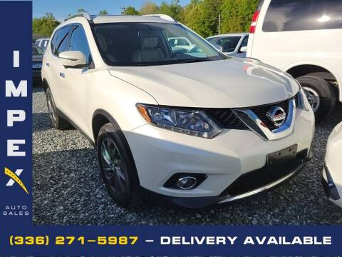 2016 Nissan Rogue for sale at Impex Auto Sales in Greensboro NC
