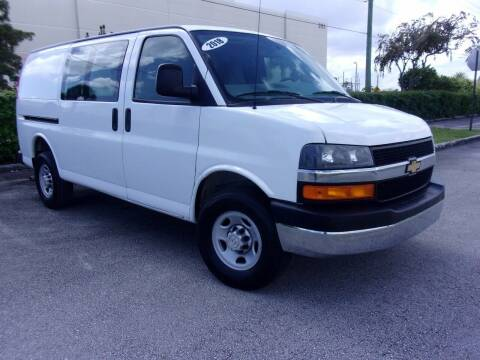 2018 Chevrolet Express Cargo for sale at Tropical Motors Cargo Vans and Car Sales Inc. in Pompano Beach FL