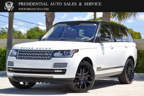 2016 Land Rover Range Rover for sale at Presidential Auto  Sales & Service in Delray Beach FL
