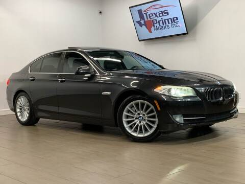 2012 BMW 5 Series for sale at Texas Prime Motors in Houston TX