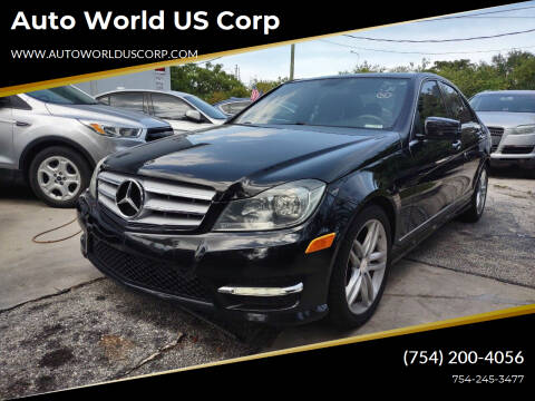 2013 Mercedes-Benz C-Class for sale at Auto World US Corp in Plantation FL