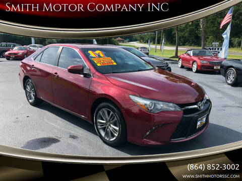 2017 Toyota Camry for sale at Smith Motor Company INC in Mc Cormick SC