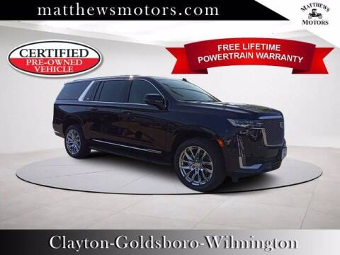 2021 Cadillac Escalade ESV for sale at Auto Finance of Raleigh in Raleigh NC